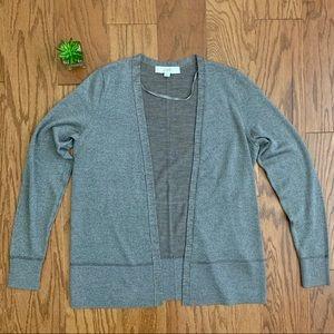 LOFT Wool Blend Open Front Thin Cardigan Sz S